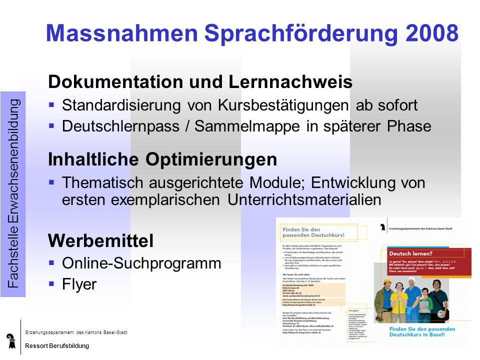 Massnahmen Sprachförderung 2008