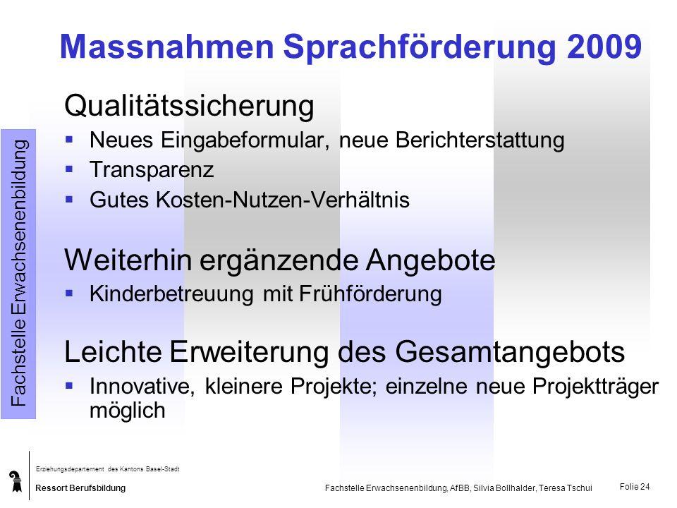 Massnahmen Sprachförderung 2009