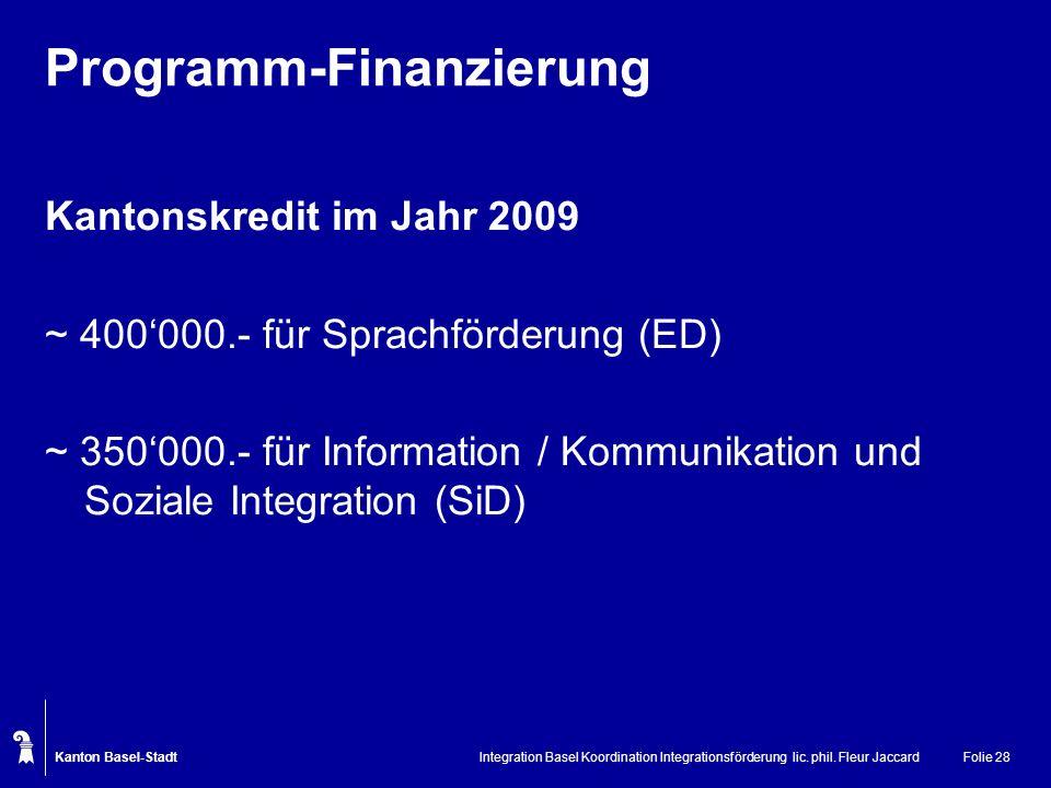 Programm-Finanzierung
