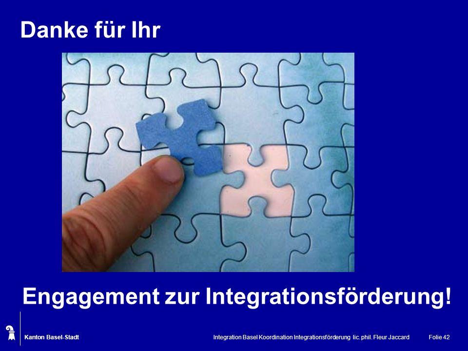 Engagement zur Integrationsförderung!