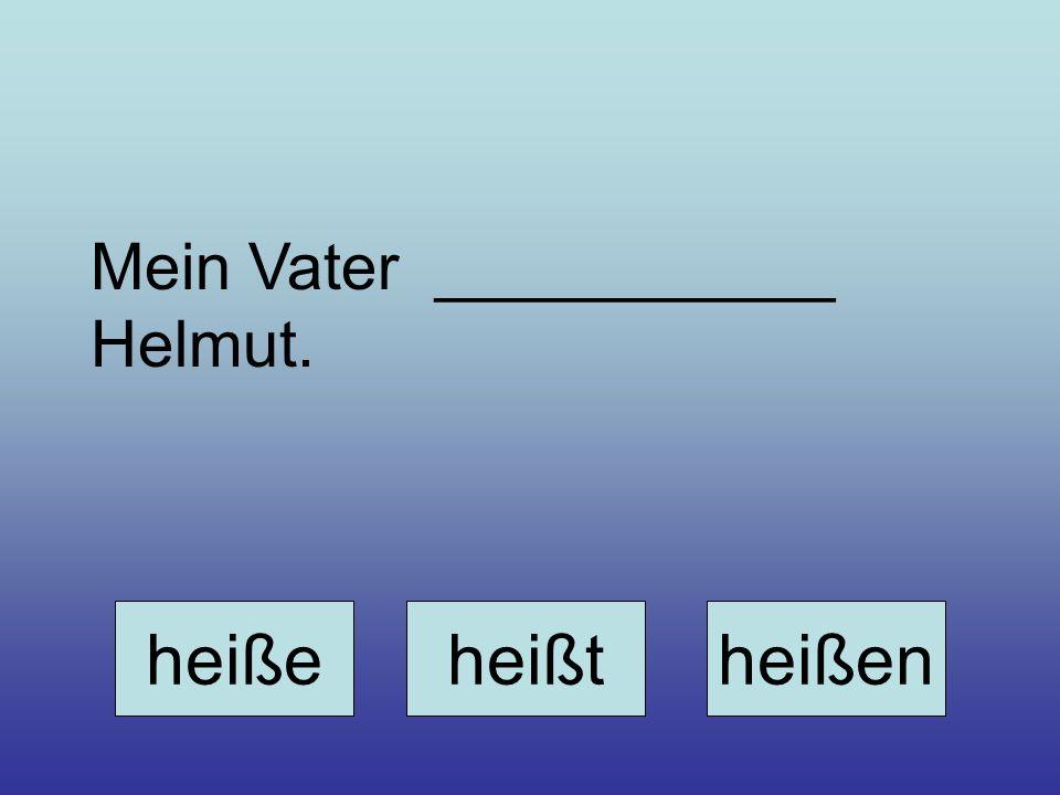 Mein Vater ___________ Helmut.