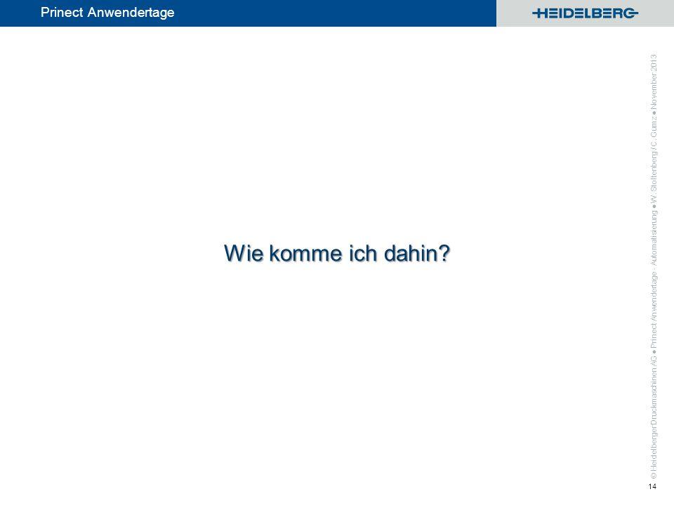 ● Prinect Anwendertage - Automatisierung ● W. Stoltenberg / C