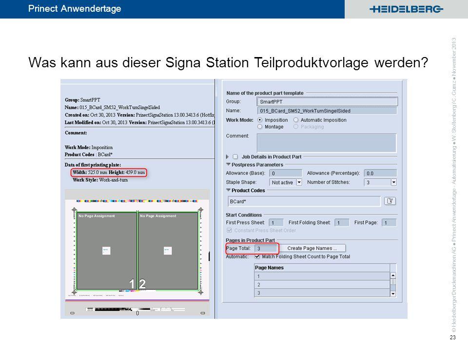 Was kann aus dieser Signa Station Teilproduktvorlage werden