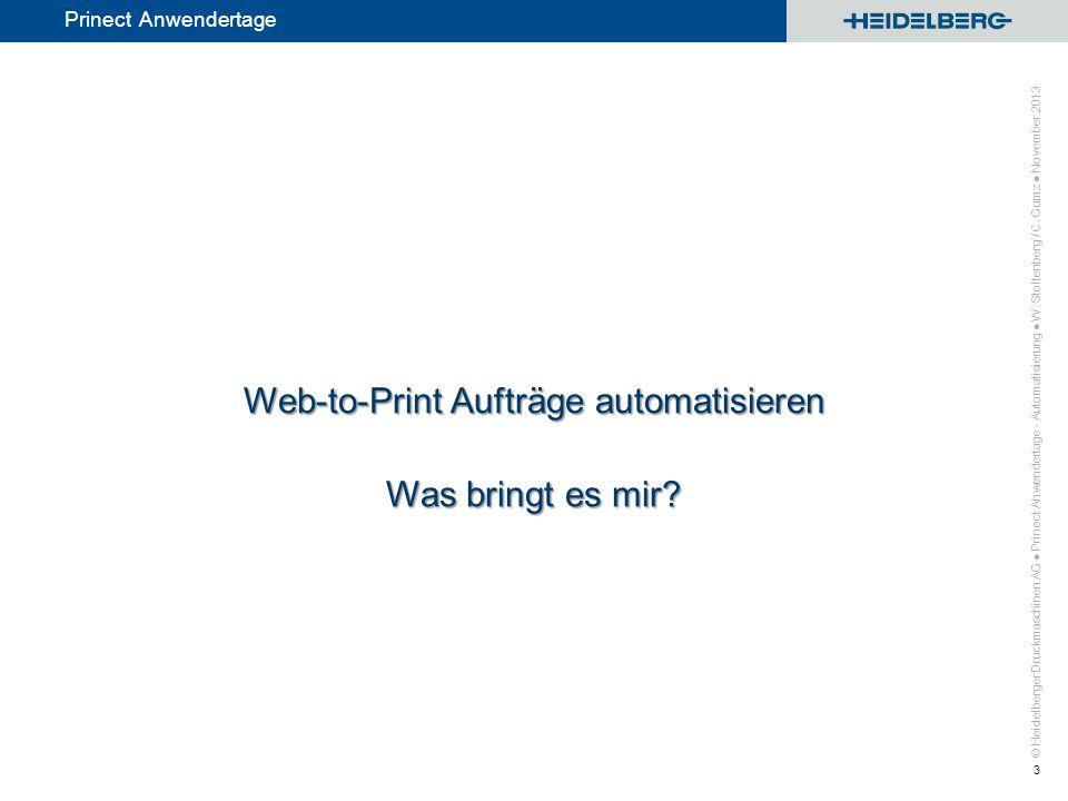 Web-to-Print Aufträge automatisieren Was bringt es mir