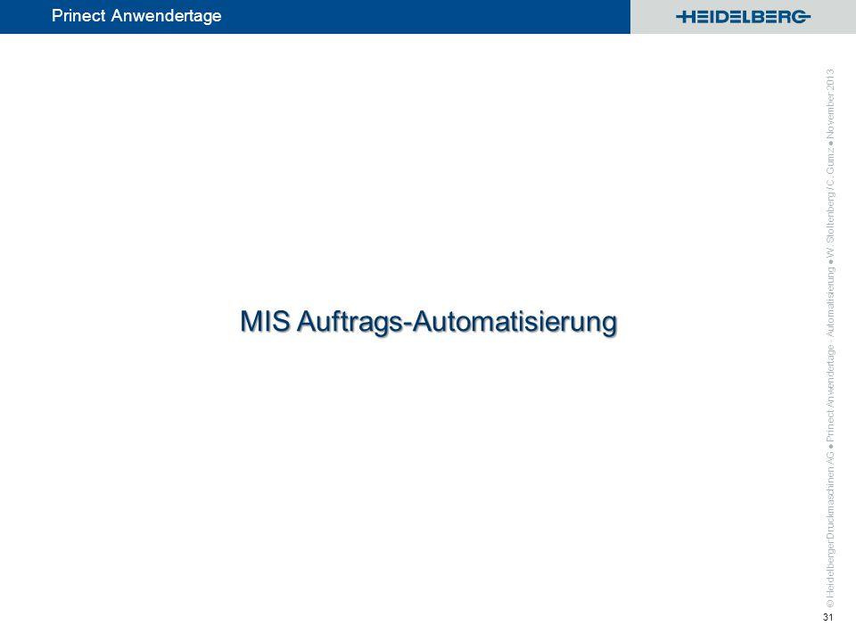 MIS Auftrags-Automatisierung