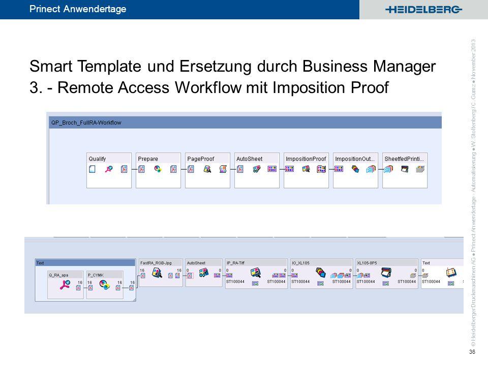 Smart Template und Ersetzung durch Business Manager 3