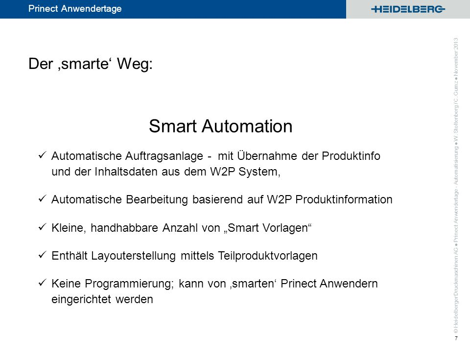 Smart Automation Der 'smarte' Weg:
