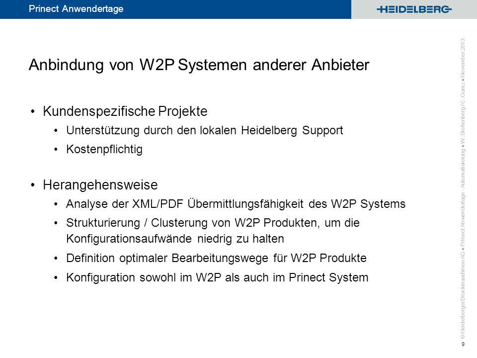 Anbindung von W2P Systemen anderer Anbieter