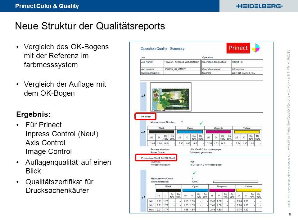 Neue Struktur der Qualitätsreports