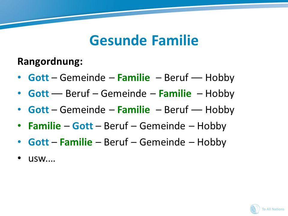 Gesunde Familie Rangordnung: