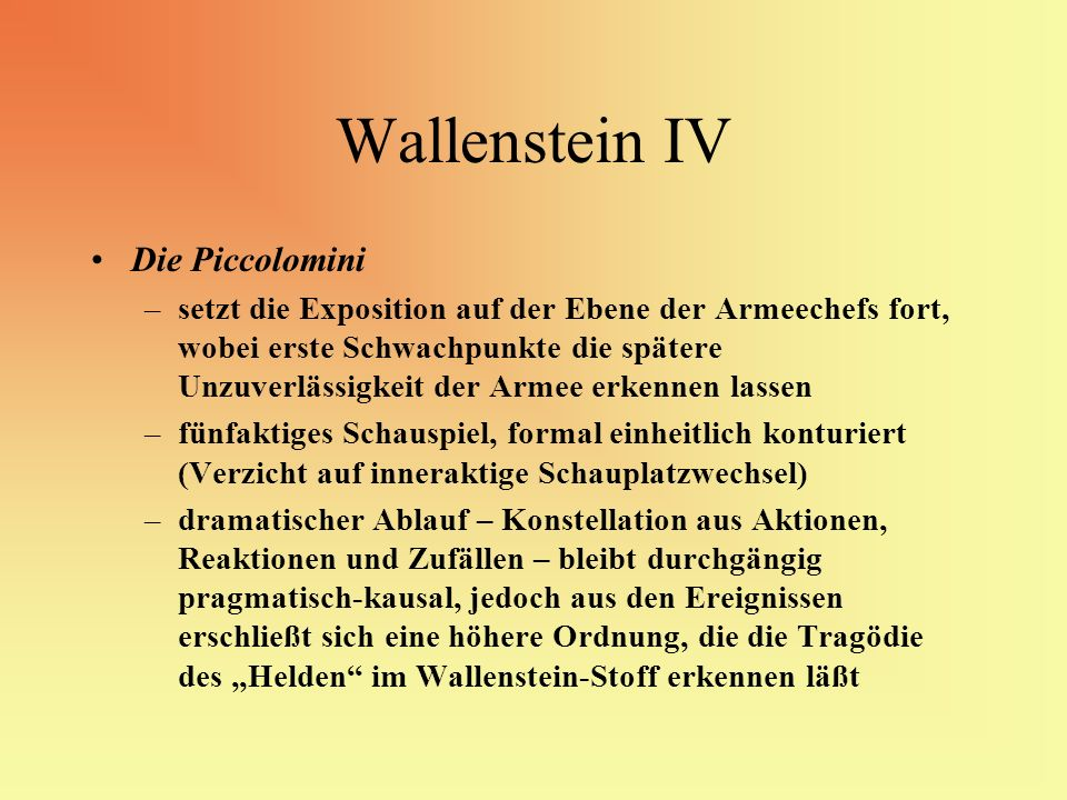 Wallenstein IV Die Piccolomini