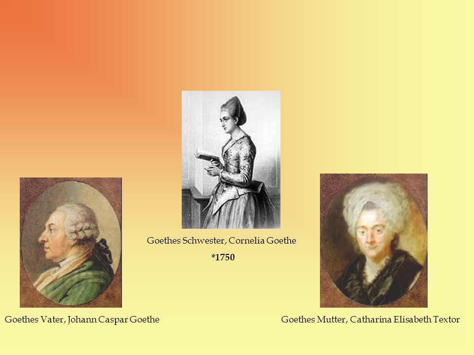Goethes Schwester, Cornelia Goethe