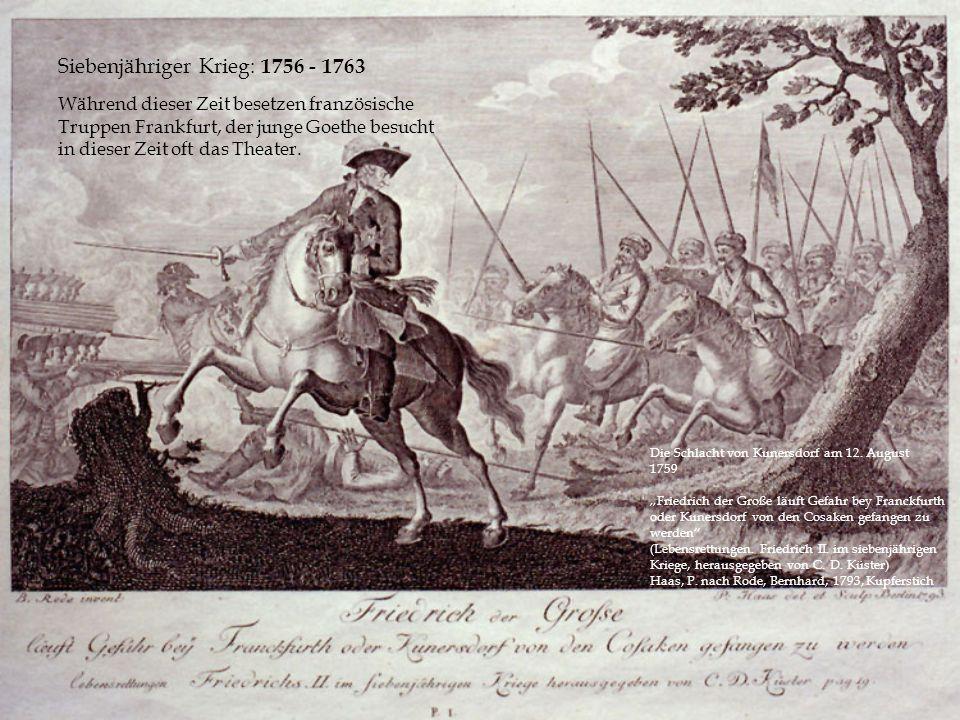 Siebenjähriger Krieg: 1756 - 1763