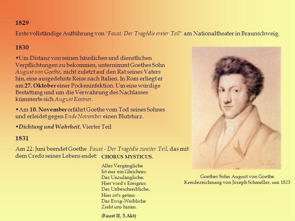 1829 Erste vollständige Aufführung von Faust. Der Tragödie erster Teil am Nationaltheater in Braunschweig.