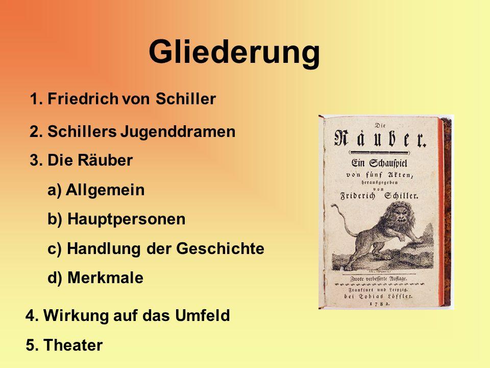 Gliederung 1. Friedrich von Schiller 2. Schillers Jugenddramen