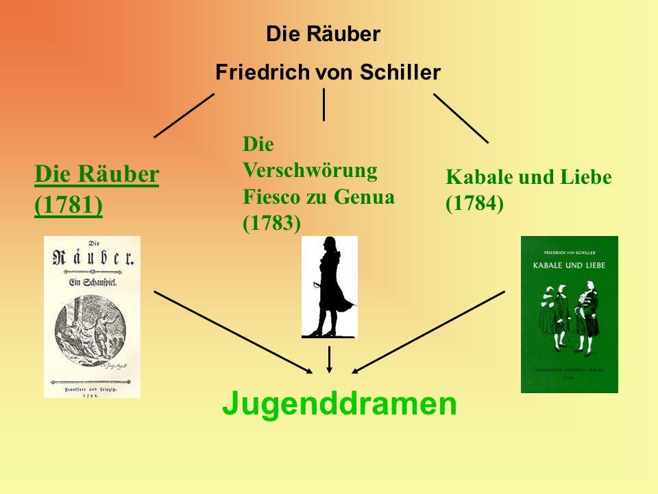 Jugenddramen Die Räuber (1781) Die Räuber Friedrich von Schiller