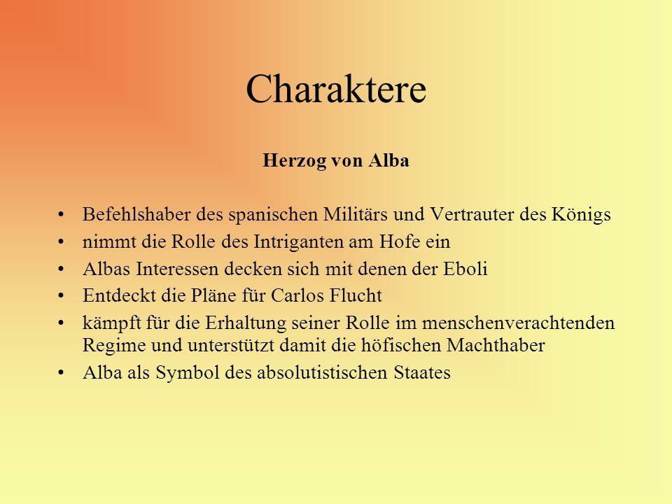 Charaktere Herzog von Alba