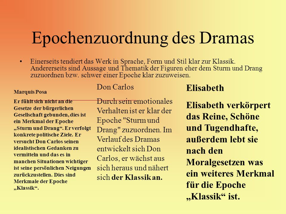 Epochenzuordnung des Dramas