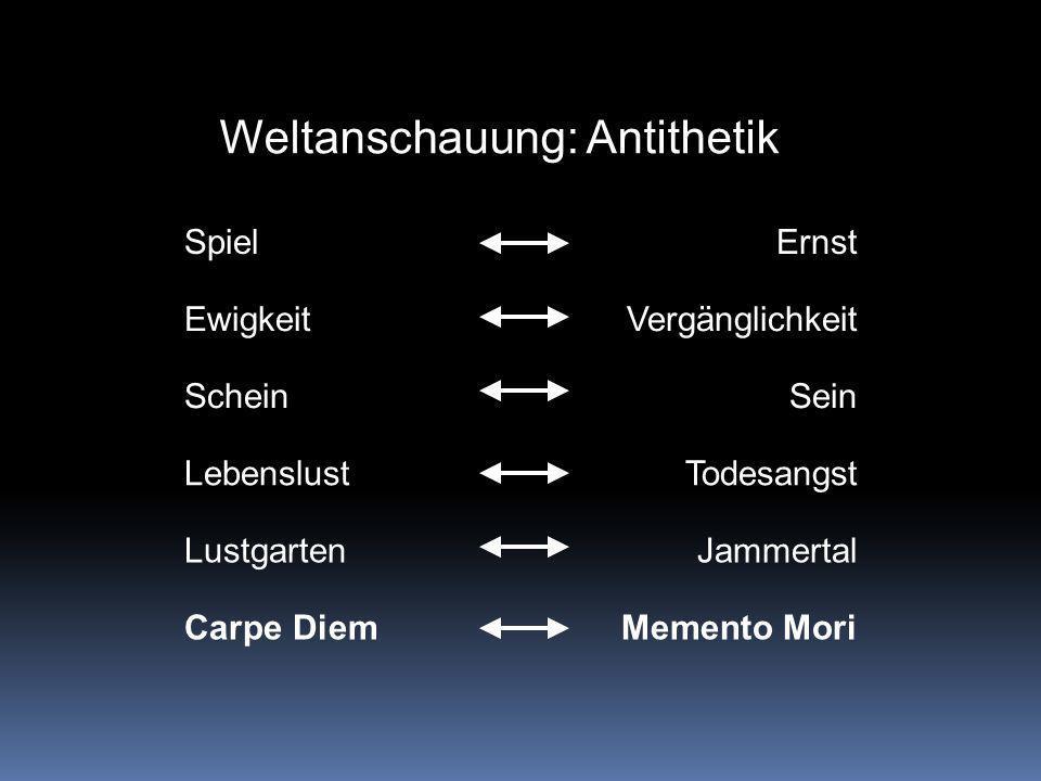 Weltanschauung: Antithetik