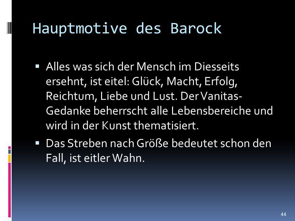 Hauptmotive des Barock