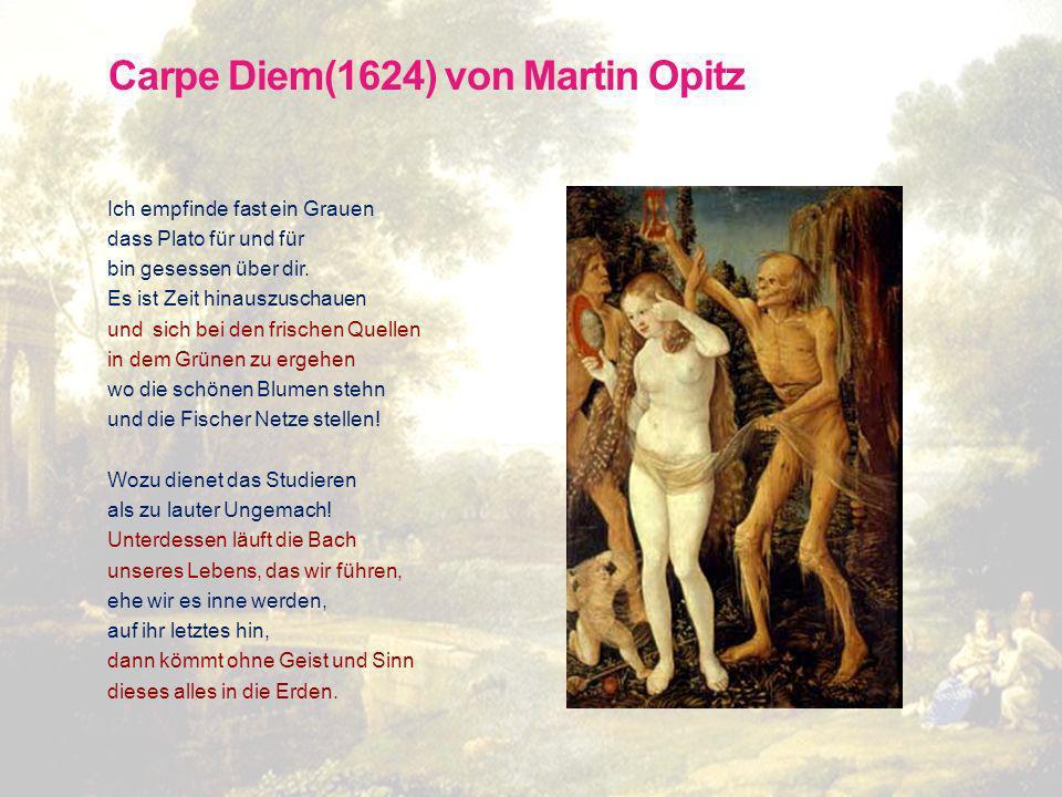 Carpe Diem(1624) von Martin Opitz