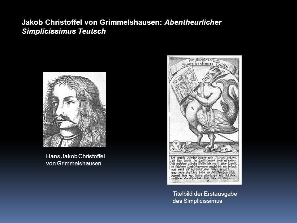 Jakob Christoffel von Grimmelshausen: Abentheurlicher