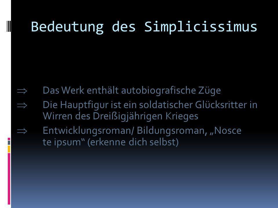 Bedeutung des Simplicissimus