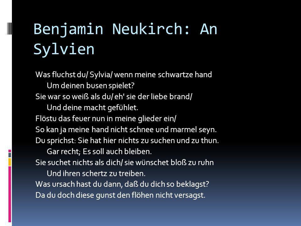 Benjamin Neukirch: An Sylvien