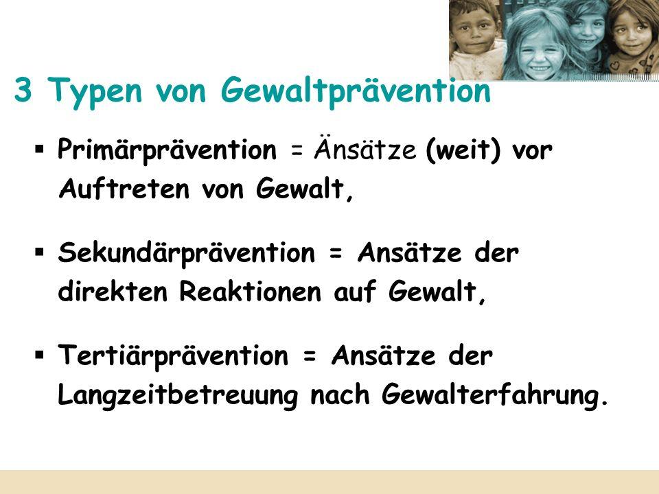 3 Typen von Gewaltprävention