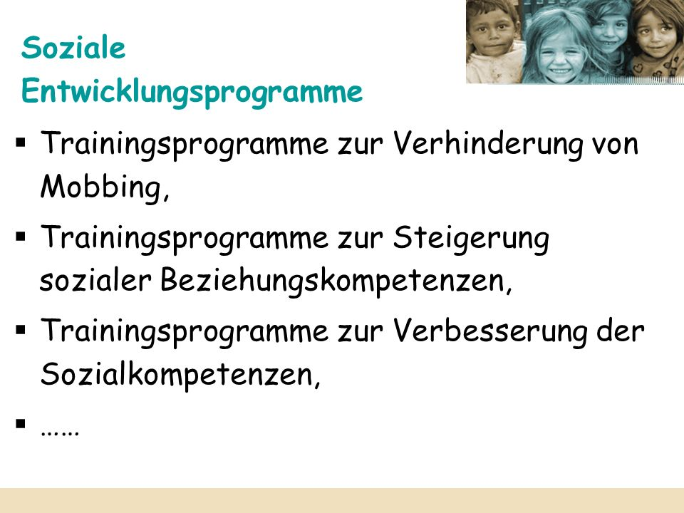 Soziale Entwicklungsprogramme