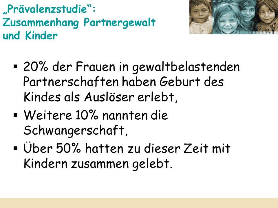 """""""Prävalenzstudie : Zusammenhang Partnergewalt und Kinder"""