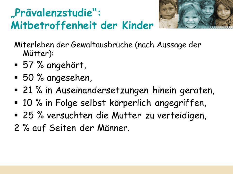 """""""Prävalenzstudie : Mitbetroffenheit der Kinder"""