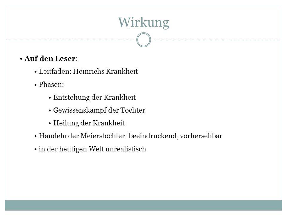 Wirkung Auf den Leser: Leitfaden: Heinrichs Krankheit Phasen: