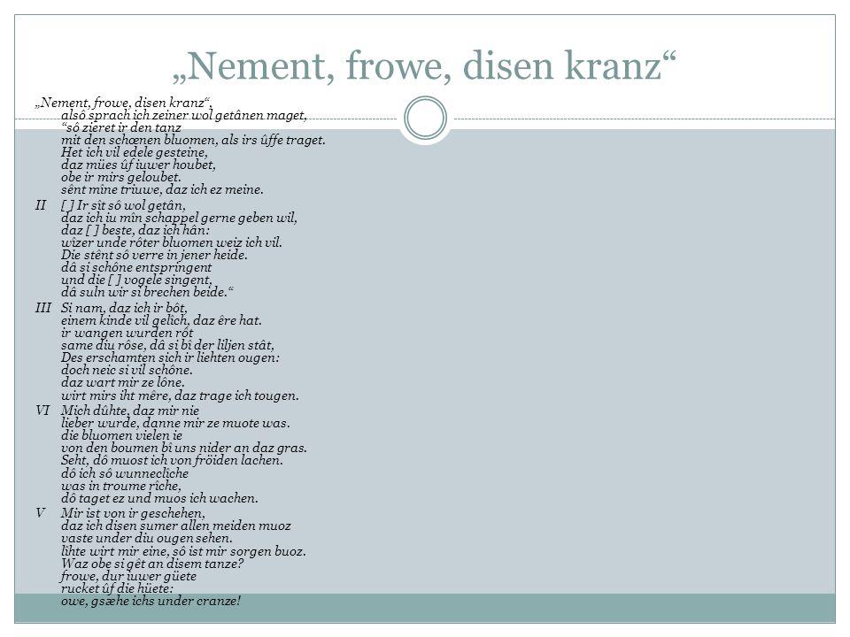 """""""Nement, frowe, disen kranz"""