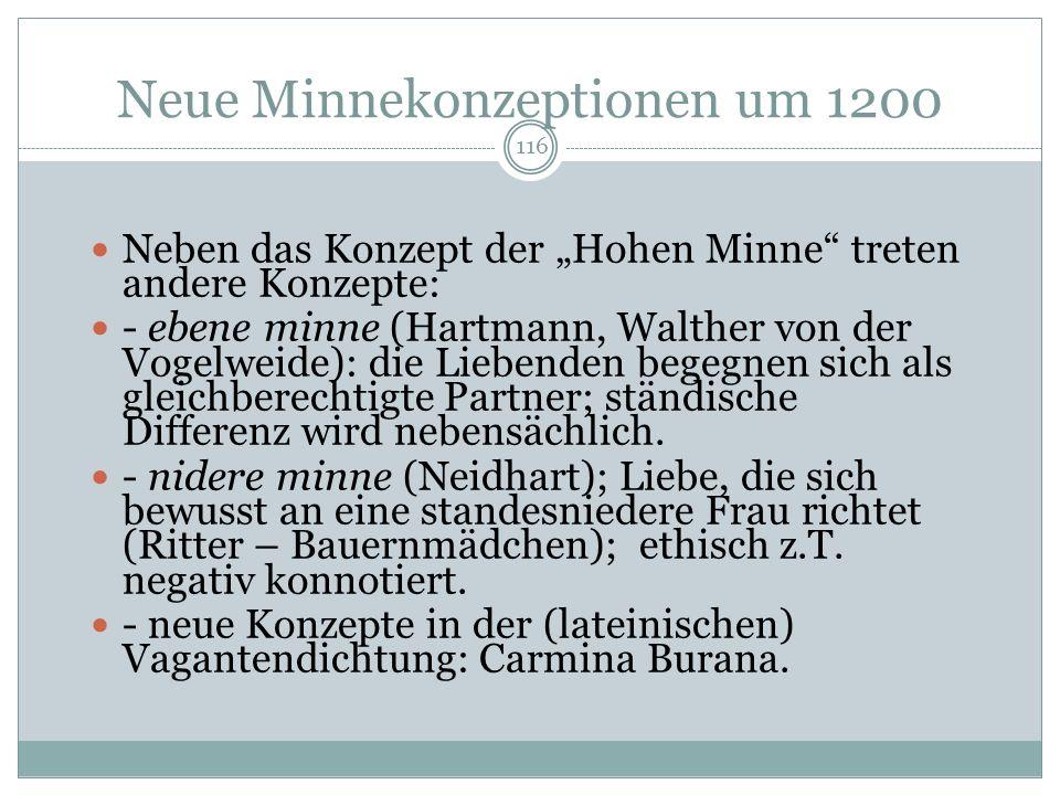 Neue Minnekonzeptionen um 1200