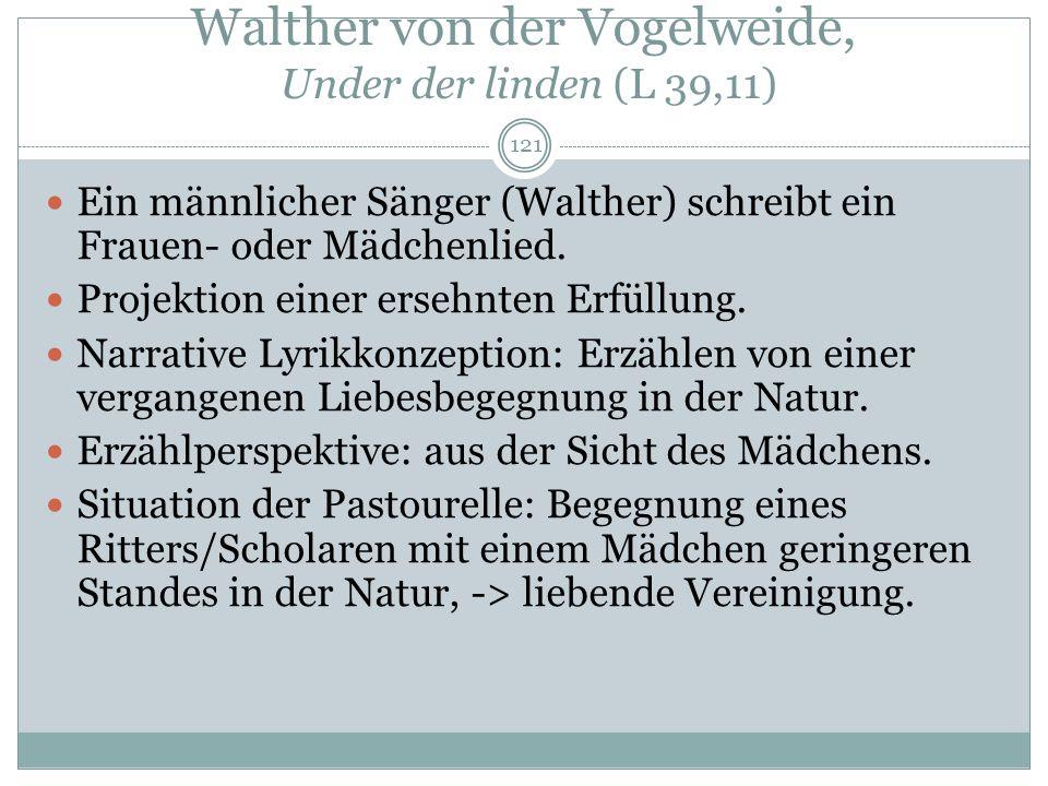 Walther von der Vogelweide, Under der linden (L 39,11)
