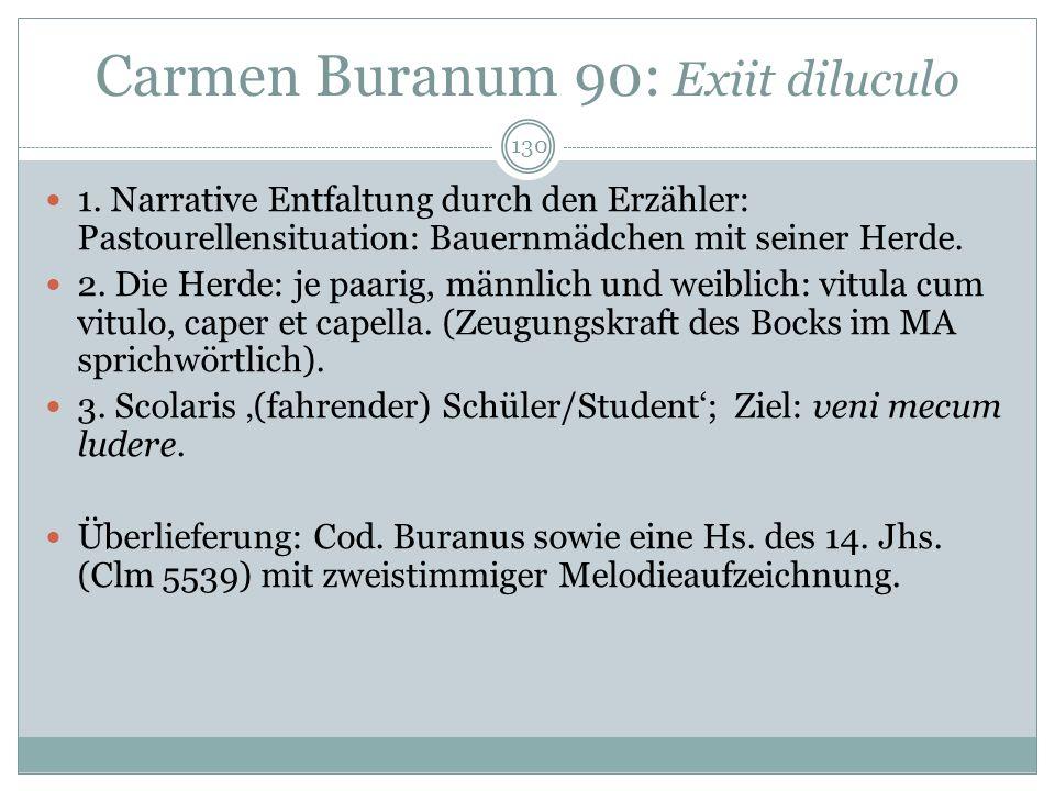 Carmen Buranum 90: Exiit diluculo