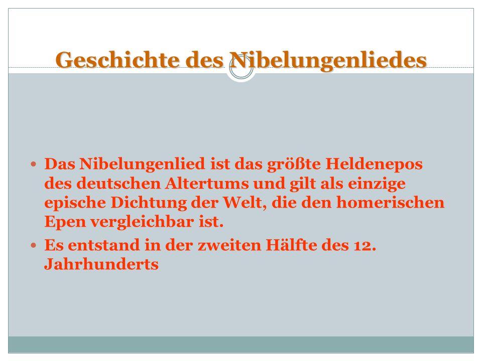 Geschichte des Nibelungenliedes