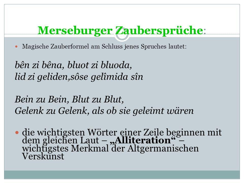 Merseburger Zaubersprüche: