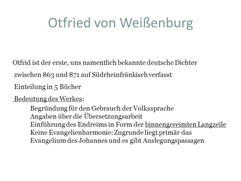 Otfried von Weißenburg