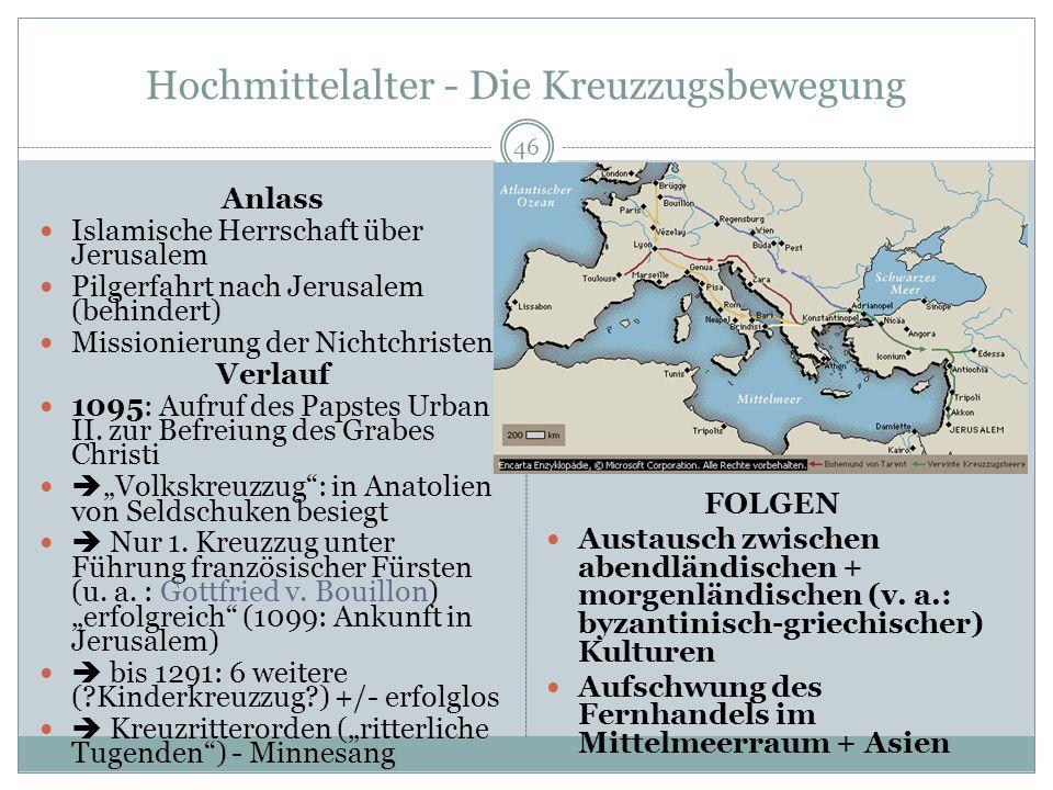 Hochmittelalter - Die Kreuzzugsbewegung