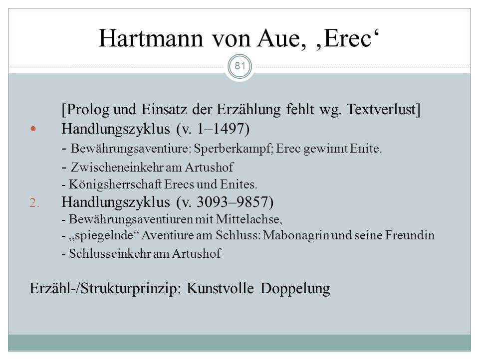 Hartmann von Aue, 'Erec'