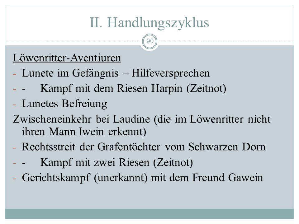 II. Handlungszyklus Löwenritter-Aventiuren