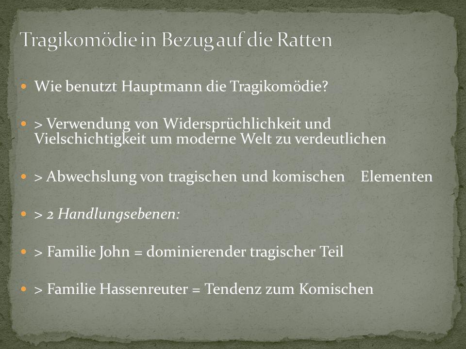 Tragikomödie in Bezug auf die Ratten