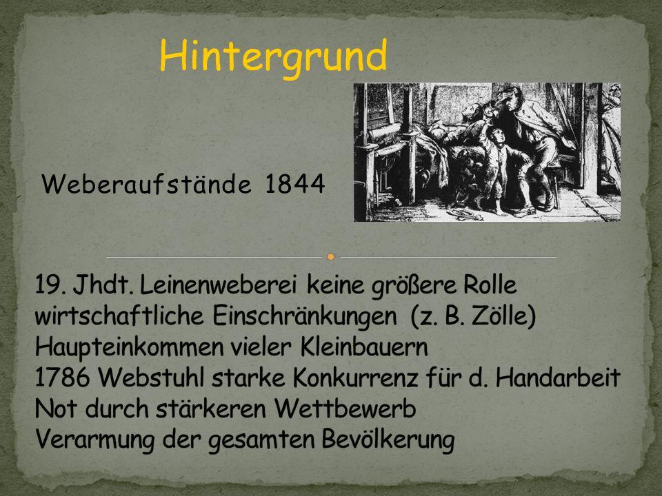 Hintergrund Weberaufstände 1844