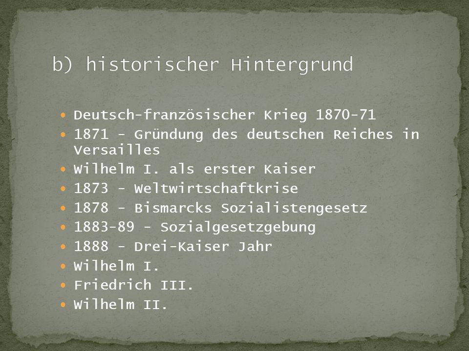 b) historischer Hintergrund