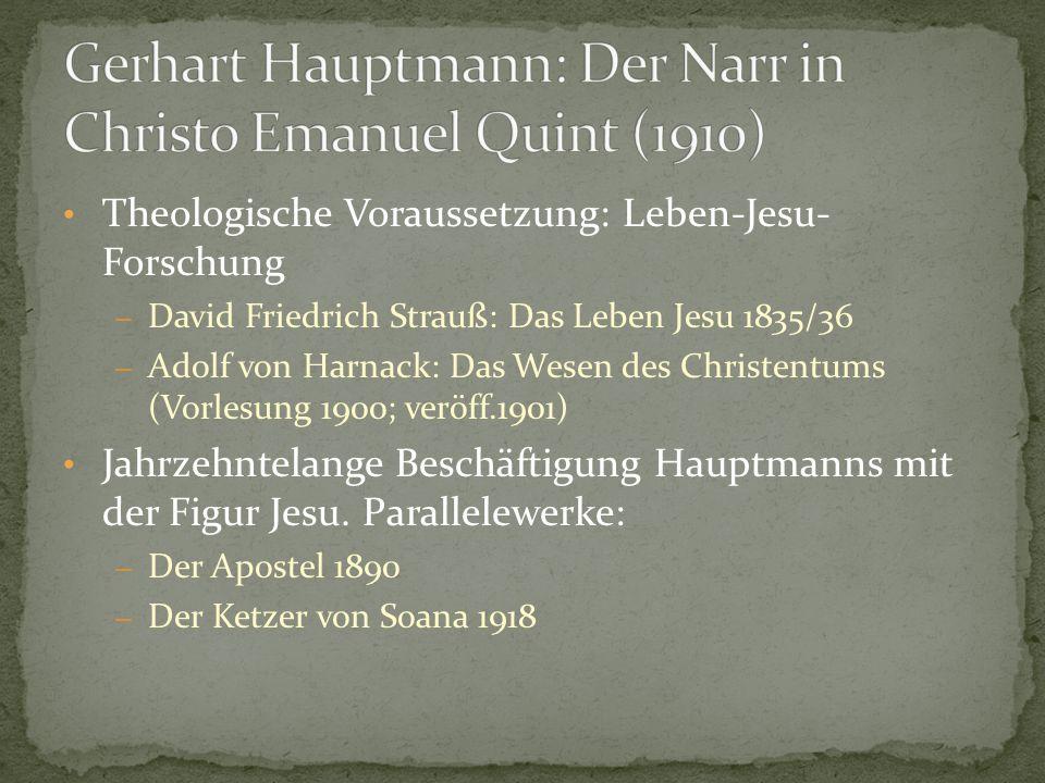 Gerhart Hauptmann: Der Narr in Christo Emanuel Quint (1910)
