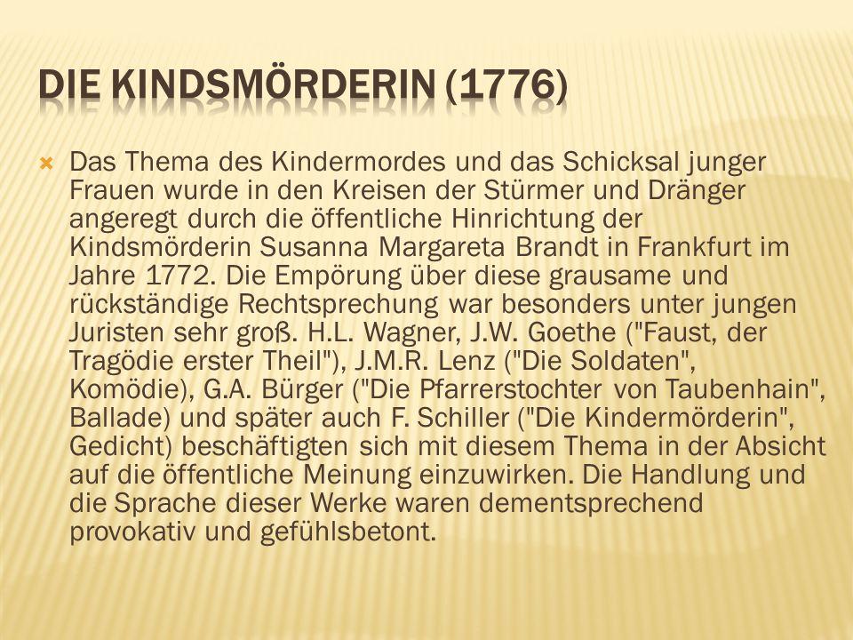 Die Kindsmörderin (1776)