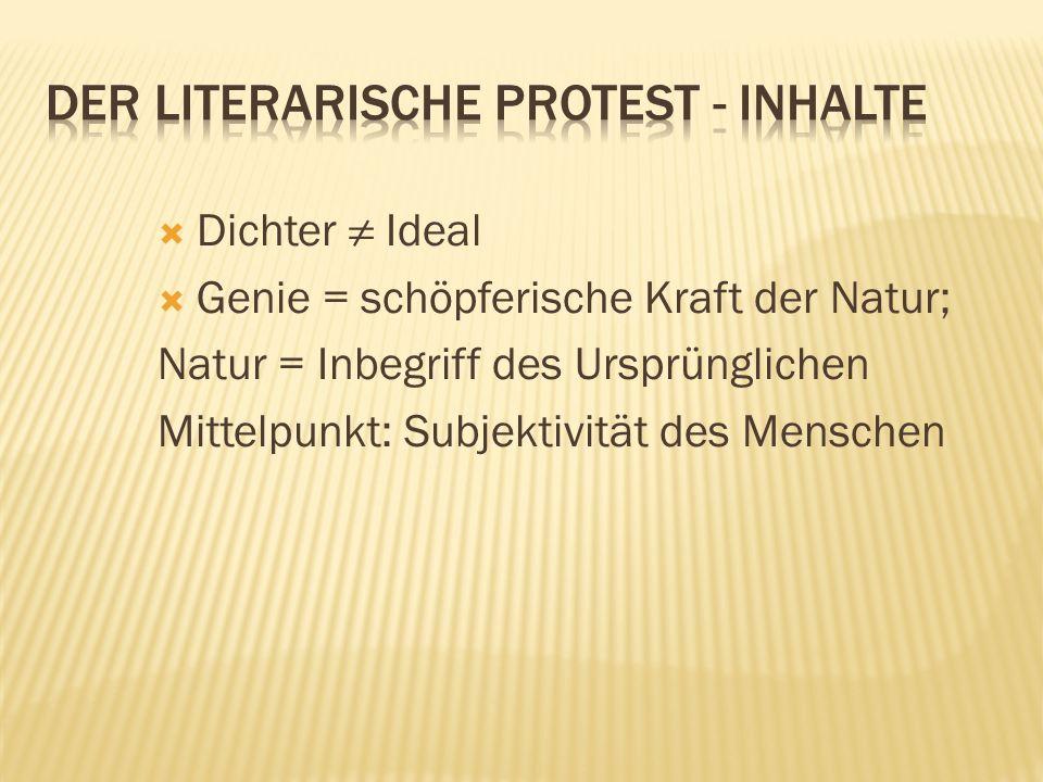 Der literarische Protest - Inhalte