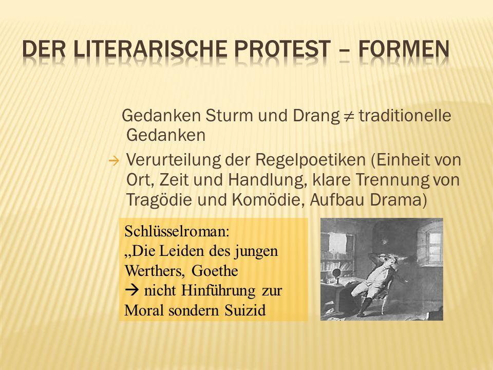 Der literarische Protest – Formen